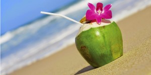 coconut-water beach